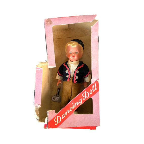 Vintage Dancing Doll by Sweetheart  - West Germany with box and key - VIDEO!