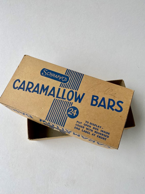 Vintage Schrafft's Caramallow Candy Bars Store Display Box