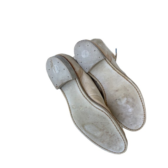 Edwardian Lace Up White Canvas Boots - image 8