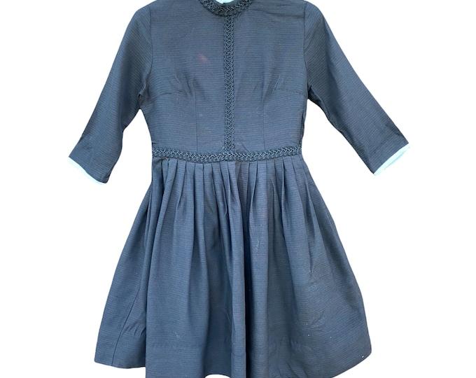 Vintage Somber Black Dress - Teen Size