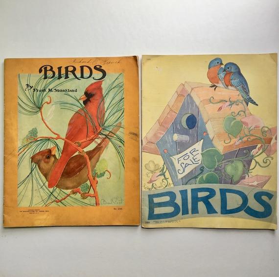 Pair of Vintage Bird Books Illustrated by Fern Bisel Peat