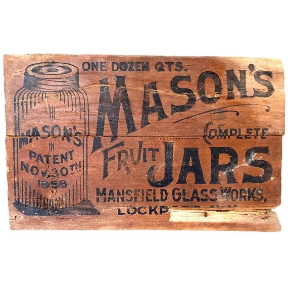 Mason's Fruit Jar Crate Advertising
