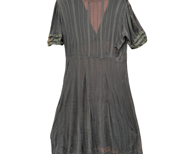Vintage Black Mesh Dress