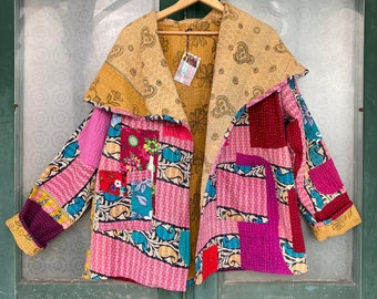 Hand-Crafted Kantha Jacket NWT