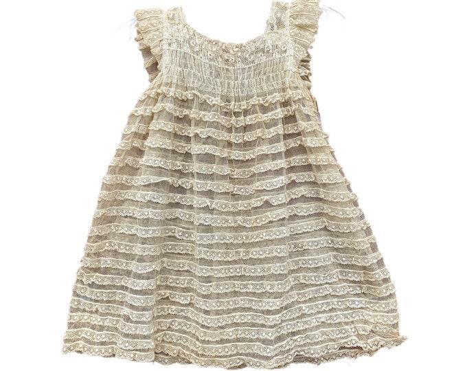 Vintage Child's Mesh Lace Dress