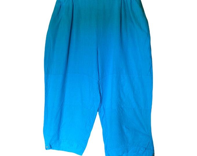 FLAX Designs Bold 2009 Kickers -2G/2X- Aqua Blue Lightweight Linen