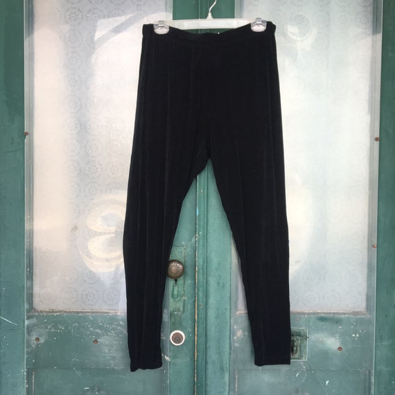 FLAX Engelheart Foundations Pippies Leggings -L- Black Acetate Lycra