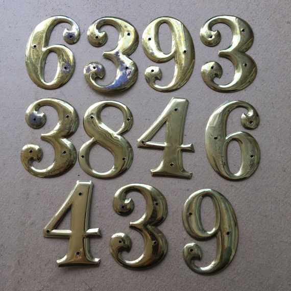 Brass Tone House Numbers
