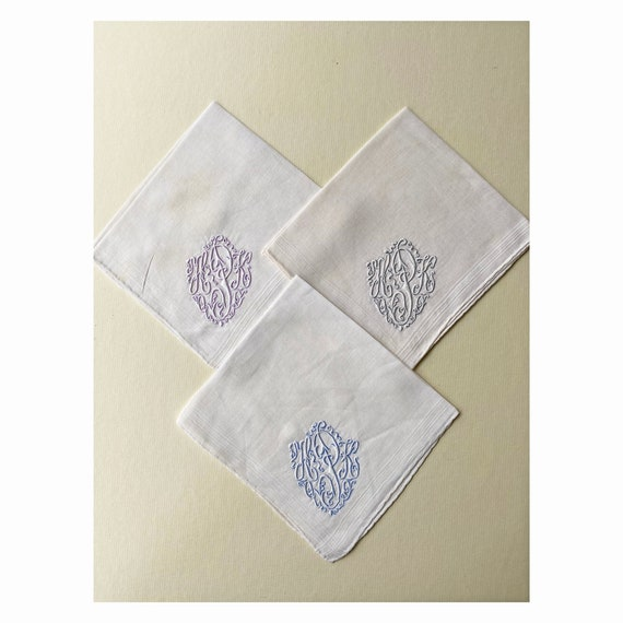 Trio of Vintage Handkerchiefs with Fancy P Monogram