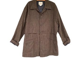 Haymaker Flax Gamekeeper's Coat -M- Black/Brown/Green Wool Blend