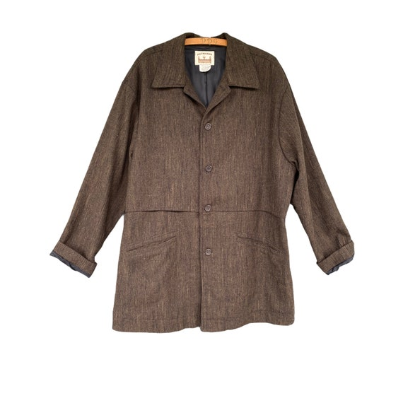 Haymaker Flax Gamekeeper's Coat -M- Black/Brown/Green Wool Blend