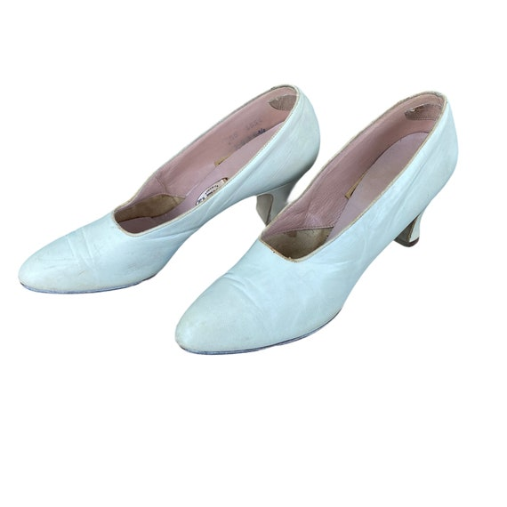 Vintage 1920s White Leather Shoes