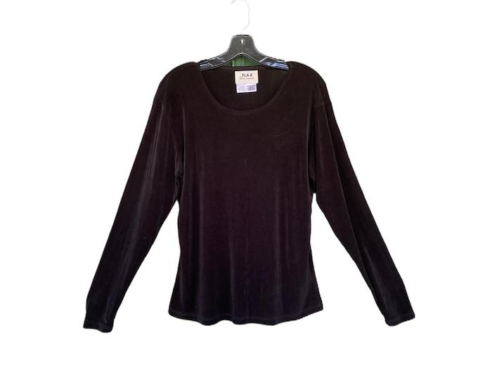 FLAX Engelhart Foundations 1999 Hugs You Long Sleeve Tee -L- Black Acetate Lycra