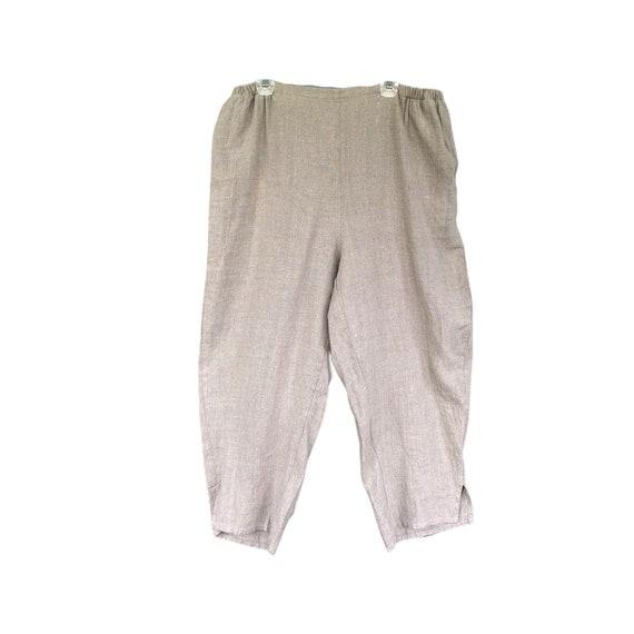 FLAX Designs Flat Front Pant -1G/1X- Natural Linen