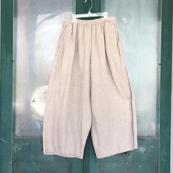 FLAX Engelhart Flood Pants -1G/1X- Natural Linen