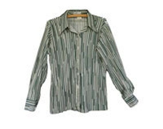 Cape Cod Match Mate Green Stripe Shirt S/M