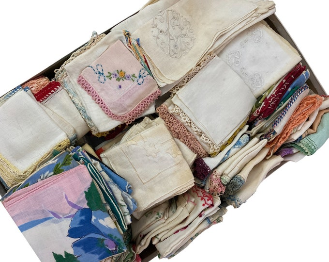 Collection of 192+ Vintage Hankies