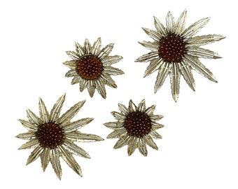 Vintage Sarah Coventry Large Flower Brooch & Earring Set