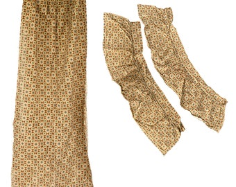 Vintage Barkcloth Curtain and Valances