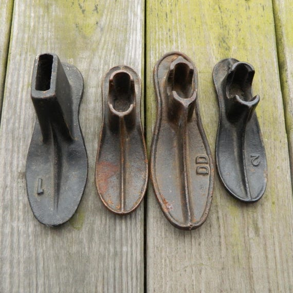 Lot of 4 Vintage Cast Iron Shoe Lasts