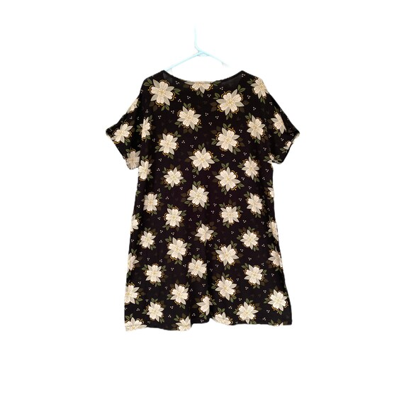 Gudrun Sjödén Naima Dress -XL- Floral on Black Lyocell/Elastane Stretch Jersey NWT