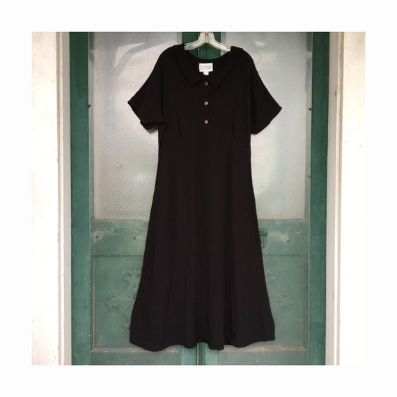 R-CLAN by Jeanne Engelhart Old-Fashioned Girl Dress -S- Black Rayon