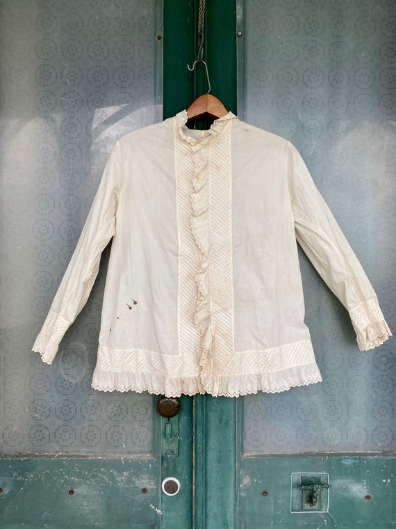 Victorian Edwardian Fancy Cotton Blouse