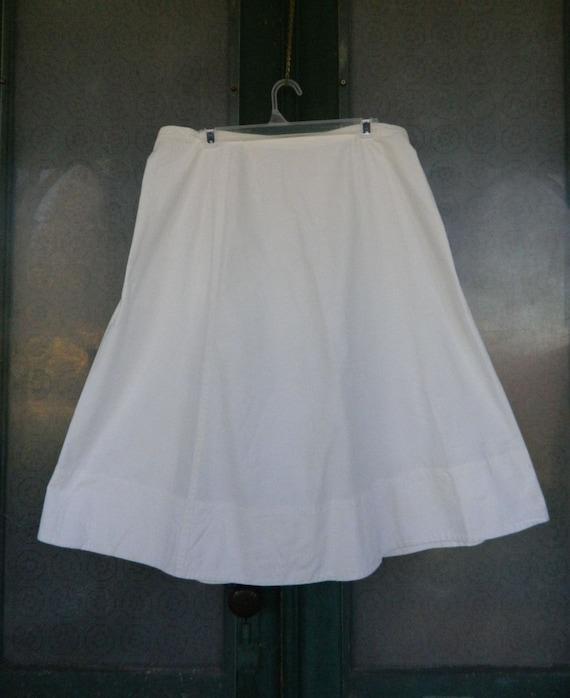 Vintage White Wrap Slip Skirt