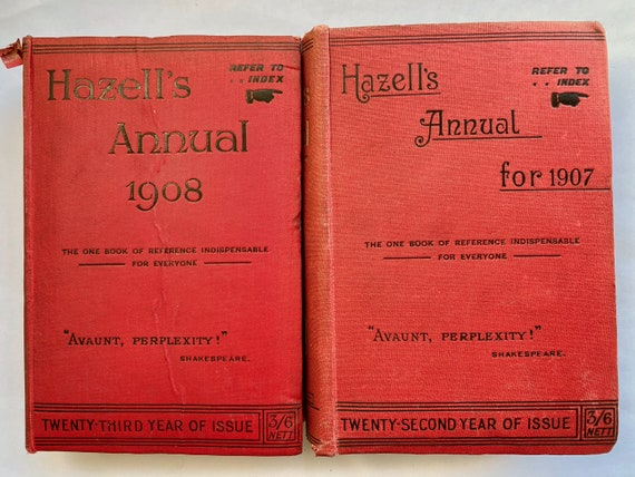 Pair of Hazell's Annuals 1907 1908 Reference