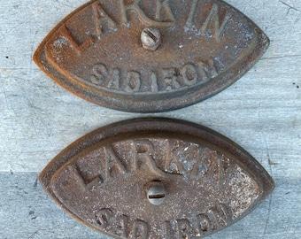 Pair of Vintage Larkin Sad Irons without Handles