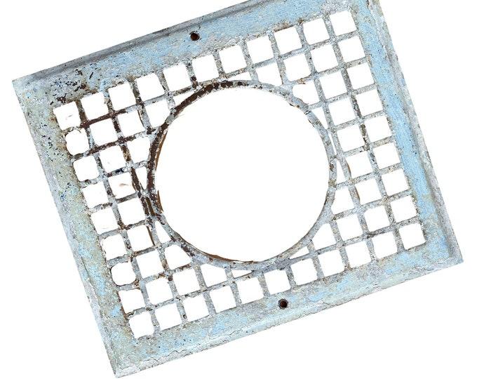 Vintage Chippy Metal Vent Grate industrial Picture Frame