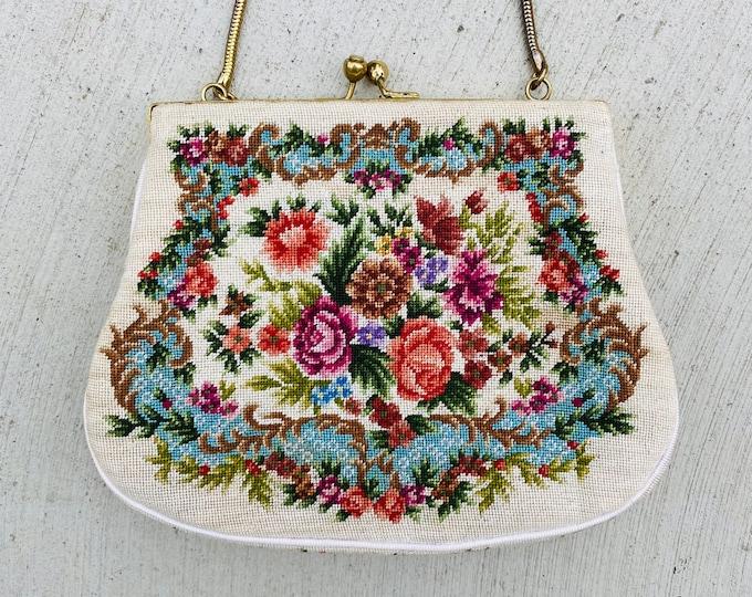 Vintage Floral Petit Pointe Bag