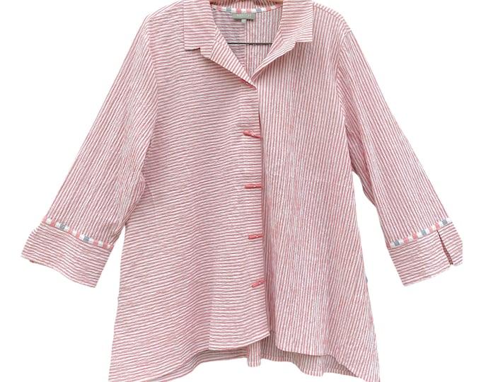Habitat Pink Stripe Shirt Jacket -XXL- Cotton/Spandex
