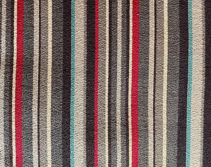 Vintage Bark Cloth Panels La Grange Johanna Striped Fabric