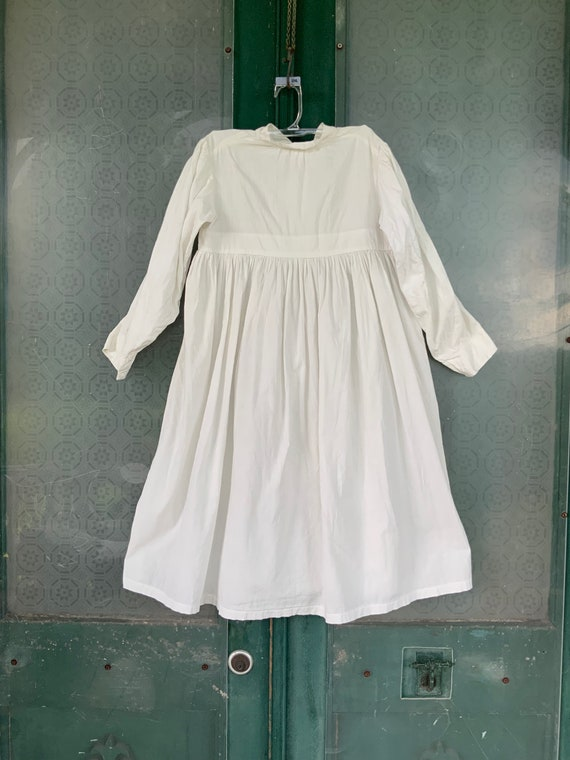 Victorian Edwardian Vintage Childs White Cotton Dress