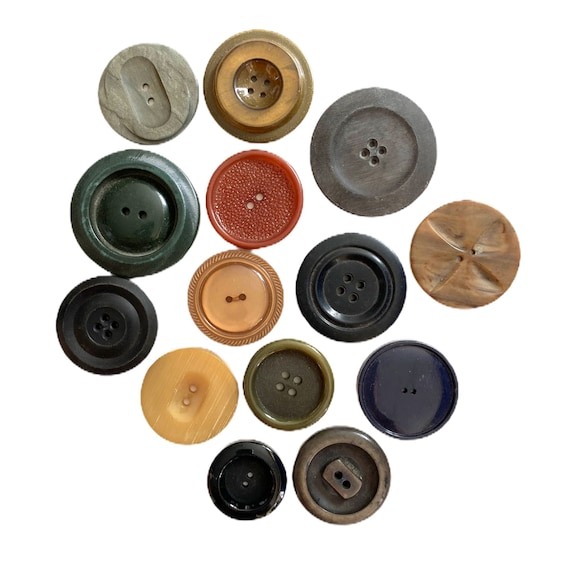 Lot of 14 Vintage Coat Buttons