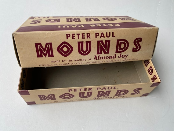 Vintage Peter Paul Mounds Candy Bar Store Display Box