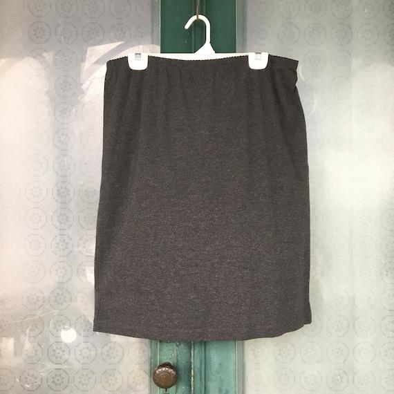 J. Jill Short Skirt -L- Dark Charcoal Gray Rayon Spandex NWT