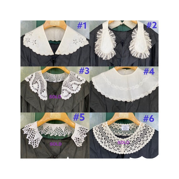 Choice of Vintage White Collars
