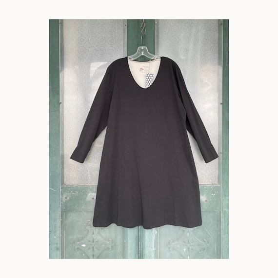 Gudrun Sjoden Long Sleeve Dress -XL- Black Organic Cotton NWT