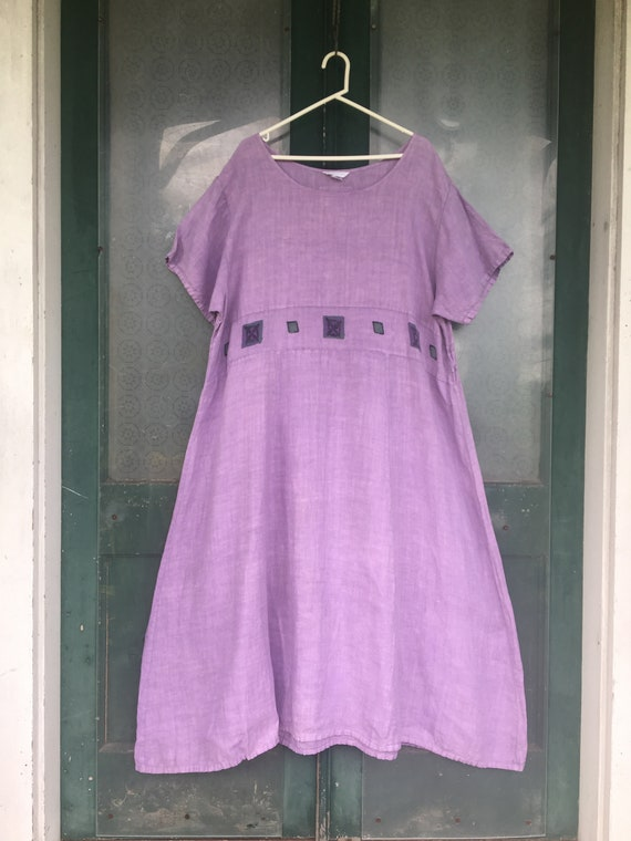 Chasing Dragons Artwear Long Dress -2- Lavender Linen