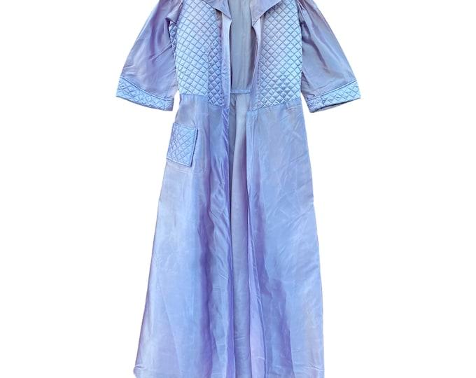 Vintage Lavender Satin Robe