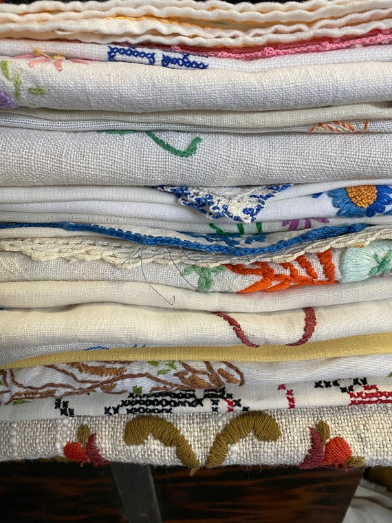 Wholesale Lot of 20 Vintage Embellished Dresser Scarves