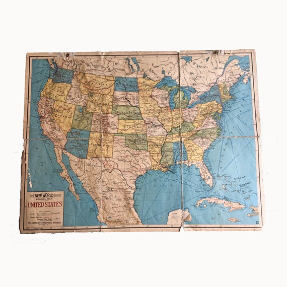 New World Series School Map of the United States