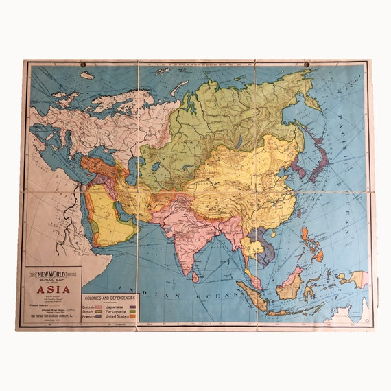 New World Series School Map of Asia