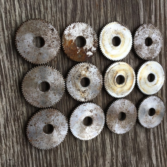 Lot of 12 Metal Machine Gears