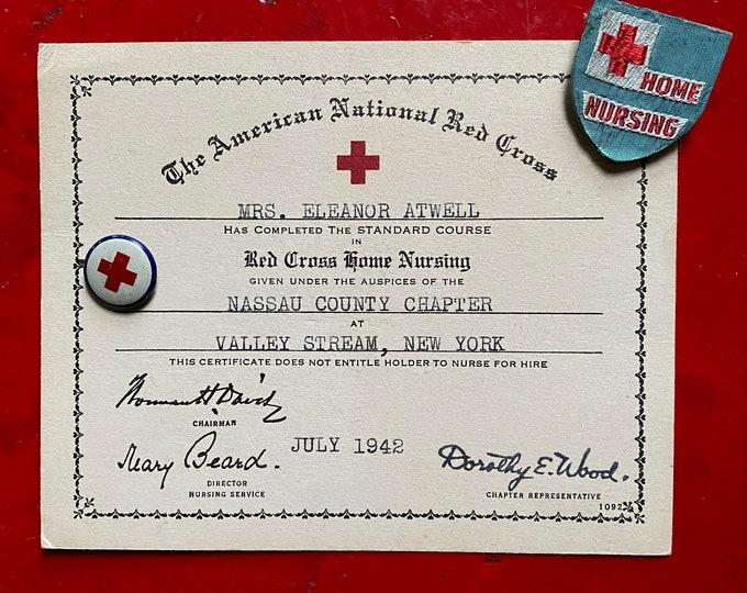 Lot of 1940s Red Cross Memorabilia