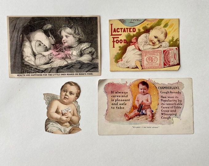 Vintage Baby Food Medicine Trade Cards Advertising