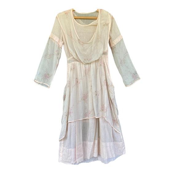 Vintage Edwardian Crepe Pinafore Dress