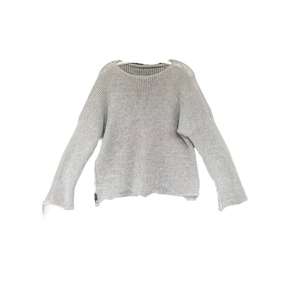 No 35 Pullover Sweater -OS- Pale Sea Glass Cotton